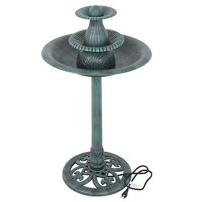3-Tier Garden Fountain W/Pump Outdoor Decor Pedestal Bird Bath Water Fountain