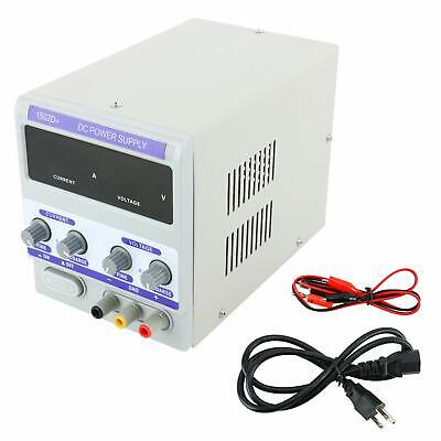 2a 0-15v Dc Adjustable Regulated Power Supply Mobile Phone Repair Us Local Ship