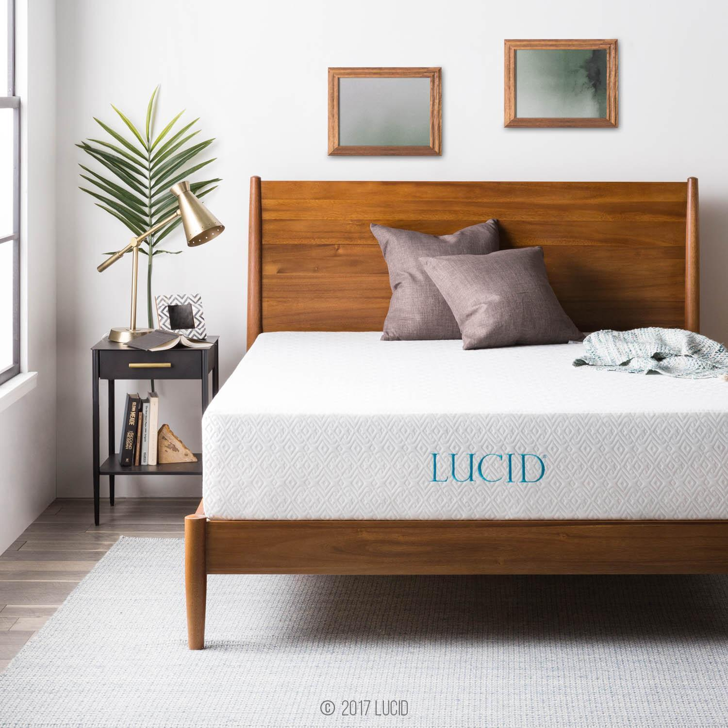 LUCID 6, 8, 10, and 12 Inch Gel Memory Foam Mattress - Twin