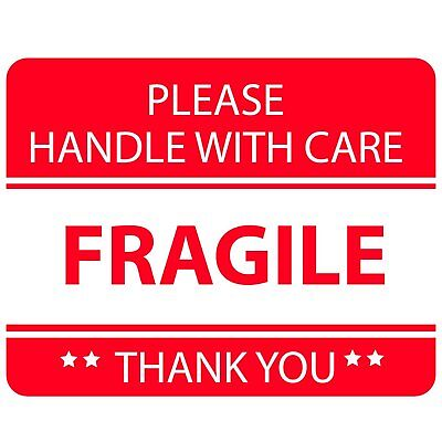 New Qty 5 Rolls 250 Please Handle With Care Fragile Shipping Stickers 3x2 Wo5