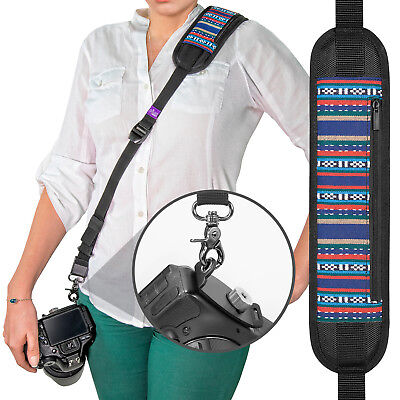 Rapid Fire™ Vintage Camera Strap - Neck Shoulder Sling w/ Quick Release & Tether