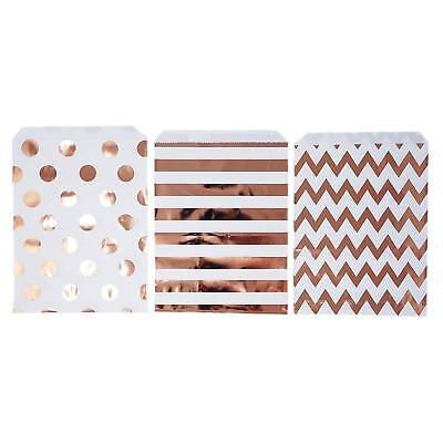 48 Polka Dot Chevron Rose Gold Food Candy Treat Party Favor Bags 5x7 Gift](Polka Dot Party Bags)