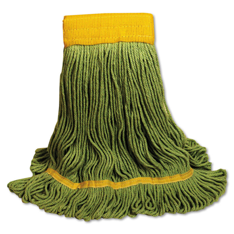 Boardwalk EcoMop Looped-End Mop Head Recycled Fibers Extra Large Size Green