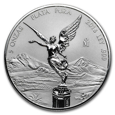 2018 Mexico 5 oz Silver Reverse Proof Libertad - SKU#173395