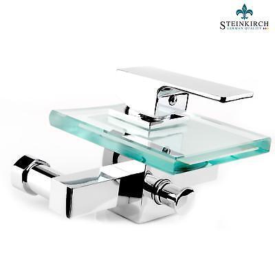 Steinkirch Bañera Cascada Grifo de Baño Cristal Mezclador Grifería Bañera