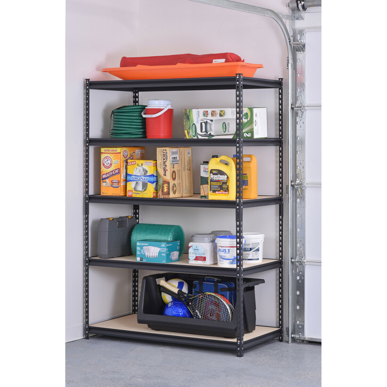 Garage Shelf Muscle Rack 48w X 24d X 72h 5-shelf Steel Shelv