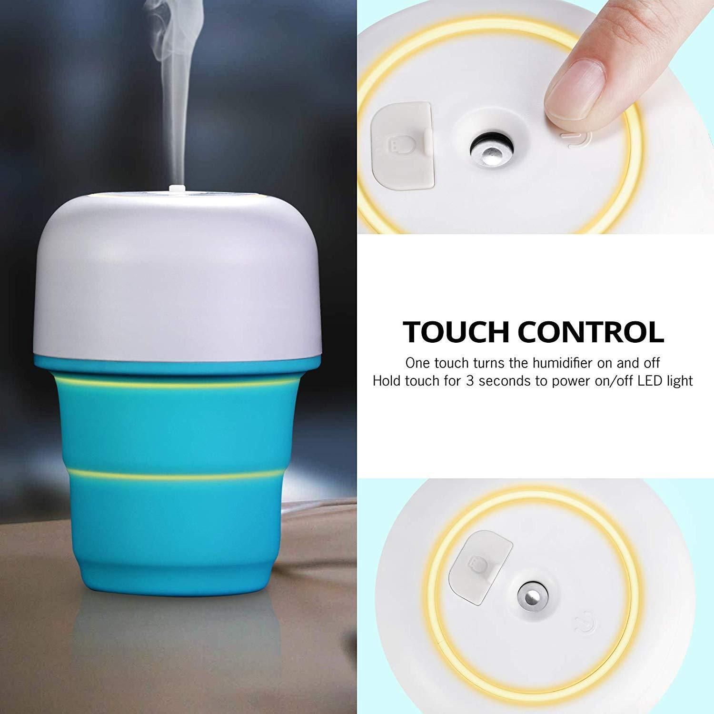 USB Portable Humidifier Personal Cool Mist Humidifier Mini Quiet Air Humidifie