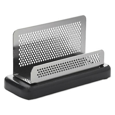 Rolodex Distinctions Business Card Holder Capacity 50 2 14 X 4 Cards Metal