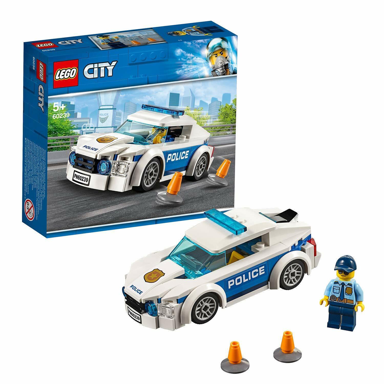 60239 city police patrol toy car set