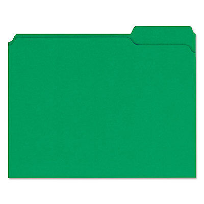 Universal Colored File Folders 13 Cut Assorted Two-ply Top Tab Letter Green 100