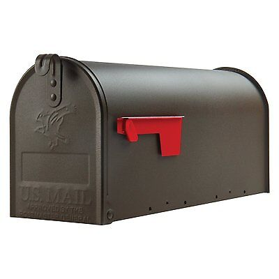 Large Premium Steel Rural Designed Mailbox Bronze Solar Group Post New Mail Box