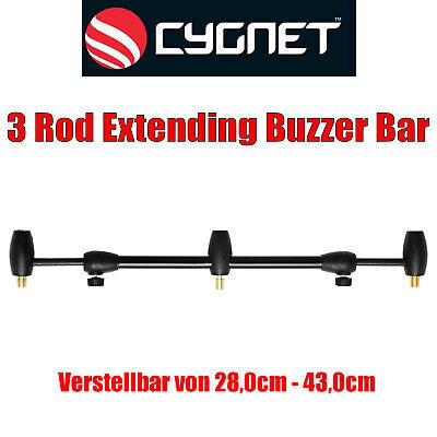 Cygnet 3 Rod Extending Buzzer Bar Rutenauflage Rutenhalter Angeln Buzzerbar