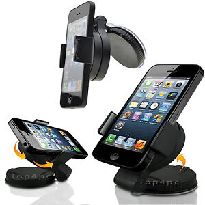SUPPORT-VOITURE-UNIVERSEL-PARE-BRISE-VENTOUSE-GPS-TELEPHONE-ROTATION-360