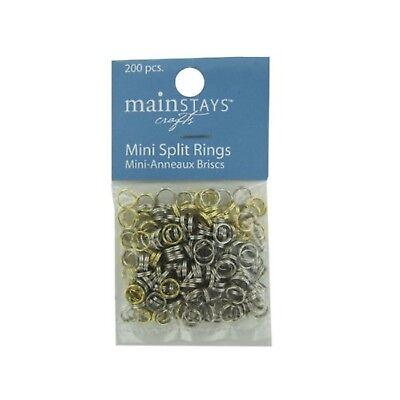 200 Mini Split Rings Bracelets, Jewelry, Necklaces, Earrings