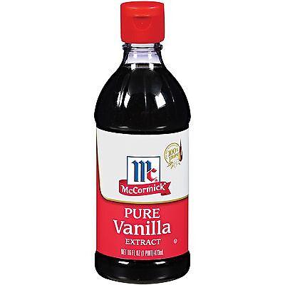 New  16 oz McCormick Pure Vanilla Extract (16 oz.) Exp 4/7/2019  L60