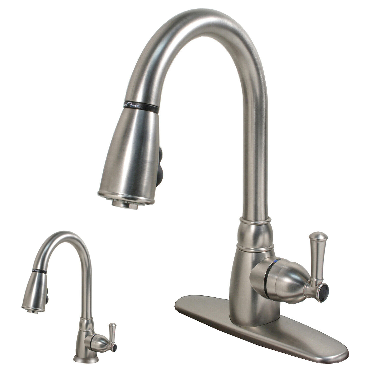 RV Mobile Home Camper Kitchen Faucet with Pull-Down Sprayer, Stainless Steel eBay Motors