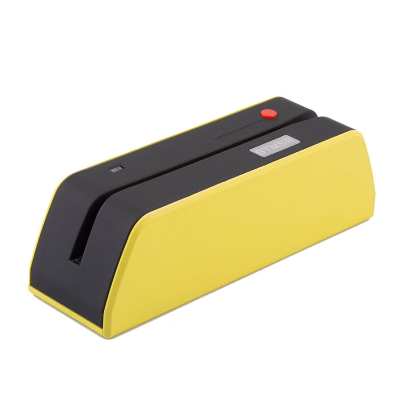 USB MSR-X6BT Magnetic Stripe Credit Reader Writer Encoder 1/3 Size of MSR Yellow