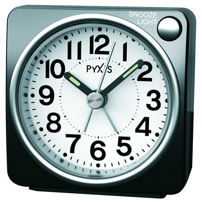 SEIKO CLOCK Alarm clock Analog PYXIS Black Metallic NR437K
