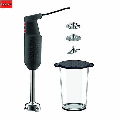 Bodum Black Bistro Electric Blender Stick with Accessories Mixers Kitchen New