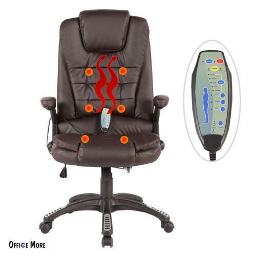 Massage Chair Heated Vibrating Ergonomic Computer Office Des