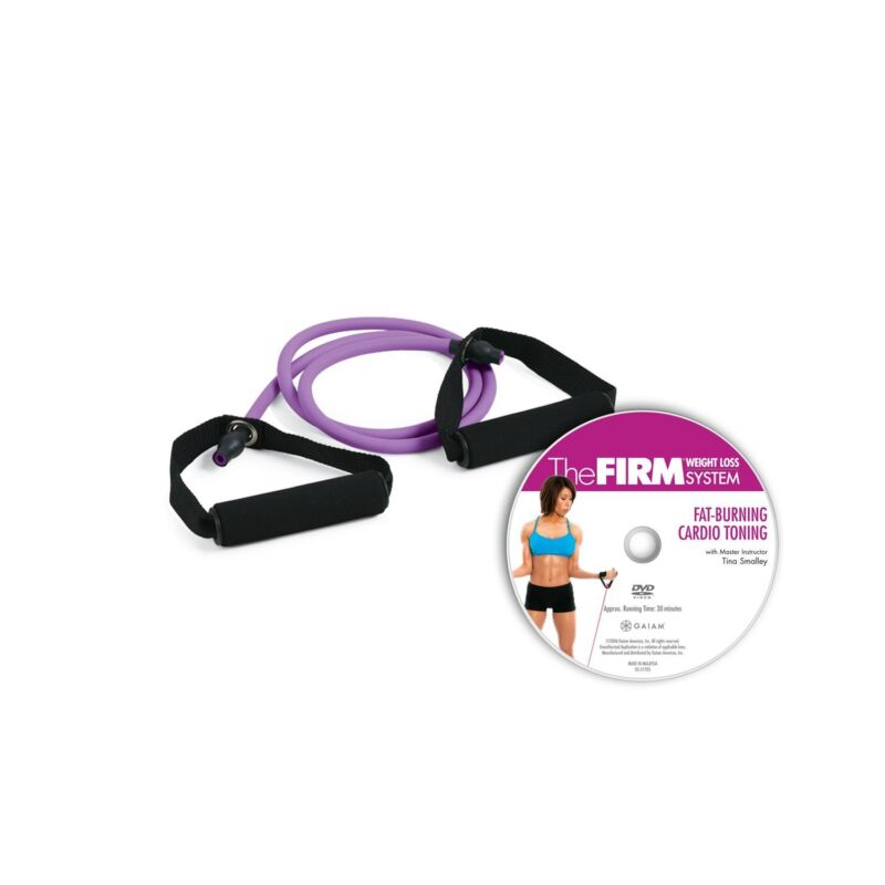 The Firm Resistance Cord with DVD Purple Heavy