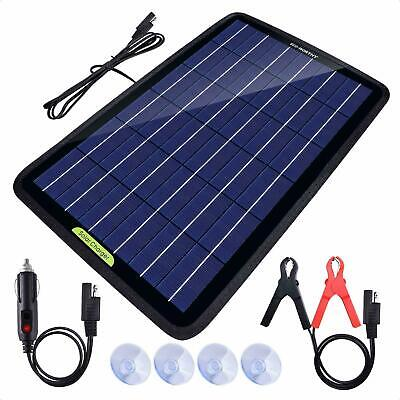 Solar Panel 10Watt 10W 12V Trickle Charge Battery Charger Kit Battery Maintainer