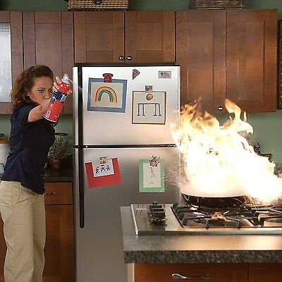 First Alert Fire Extinguisher Spray Nozzle Can Home Hot Safety Tool Foam
