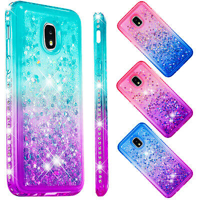 Liquid Glitter Bling Quicksand Stand Phone Case For Samsung Galaxy J3/J4 Plus/J7