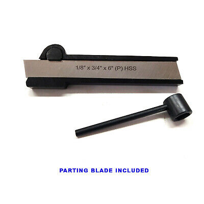 Lathe Cut Off Parting Tool Holder 12 X 1-18 X 6 With Hss Blade 34