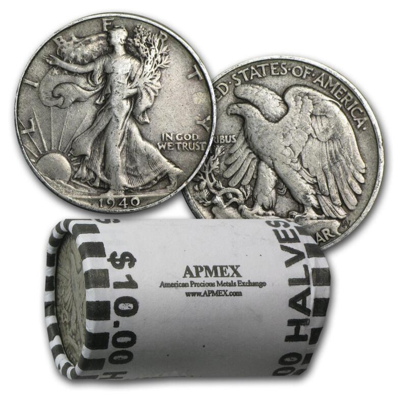 Roll of dollar coins