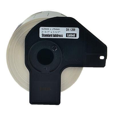 1 Roll Dk1209 White Address Labels 800 Labels For Brother Ql-570vm550 W1 Frame