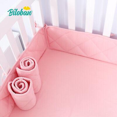 Mini Crib Bumper Pads for Girls Portable Crib Liners Padding 24