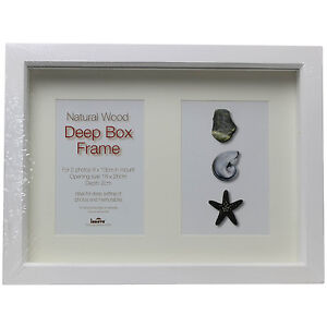 Innova Editions Natural Wood 18x26cm Deep Box Picture Photo Image Frame Display
