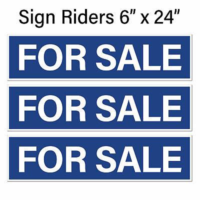 Real Estate Sign Riders For Sale 6pk Blue W White Corru. Plastic Free Ship
