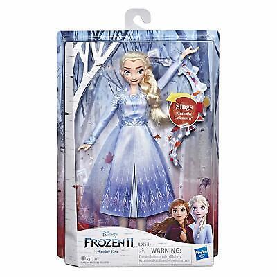 Disney Frozen 2 Singing Elsa Fashion Doll with Music Wearing Blue Dress new toy