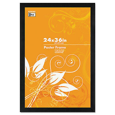 Dax Black Solid Wood Poster Frames w/Plastic Window Wide Profile 24 x 36 2863U2X