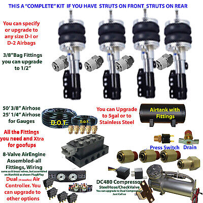 B FBS-MIN-02-3 Mini Cooper Plug and Play FBSS Complete Air Suspension s