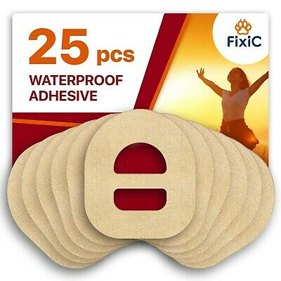 Fixic – Best Adhesive Patches for Omnipod – 25 PCS of Premium Patches with Wa...