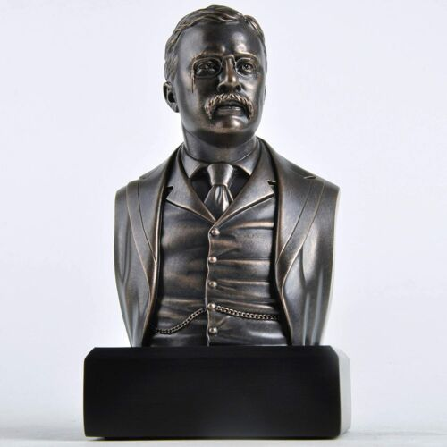 President Theodore Roosevelt Historical Bust Collectible Statue  **GIFT BOXED