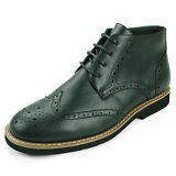 Mens Wing Tip Ankle Boots
