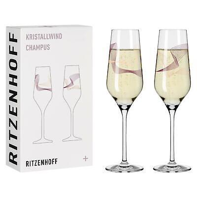 2er Set Ritzenhoff Kristallwind 01 + 02 Champagnergläser by Romi Bohnenberg 2021