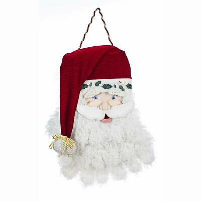 decorative santa claus outdoor burlap door dcor