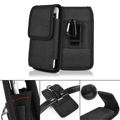 Iphone Black Vertical Pouch (Black Belt Clip Vertical Holster Pouch Carrying Case Cover For Apple iPhone XR )