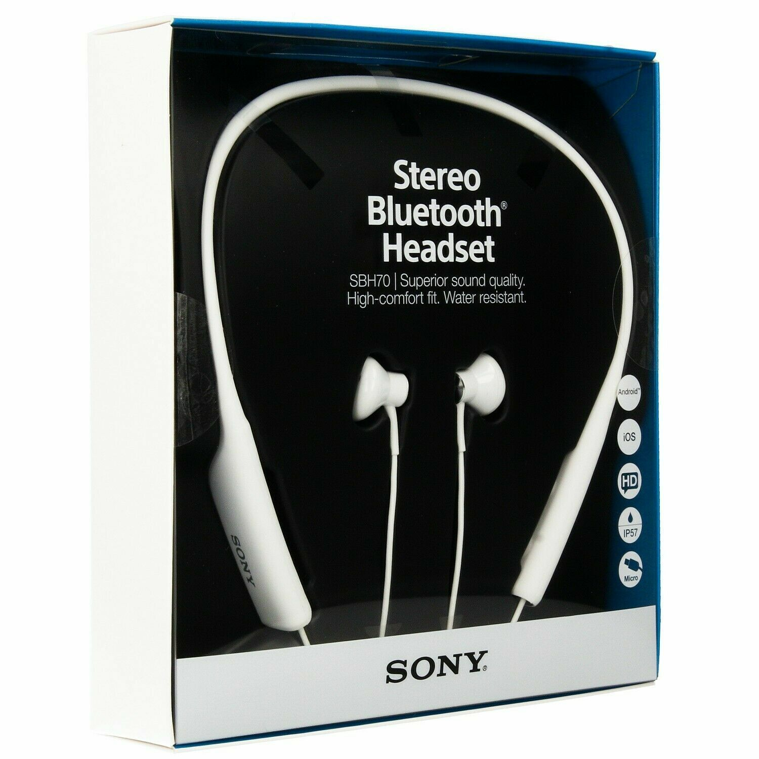 Sony Bluetooth Headset - SBH70 - Android iOS HD IP57 Superior Sound Quality