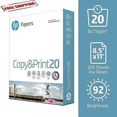 Printing Paper Hp Office Ultra White 92 Bright 500 Sheets Made In Usa Quality