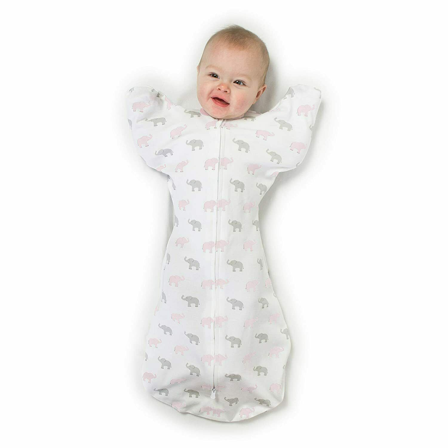 swaddle sack arms up sleeves with foldover