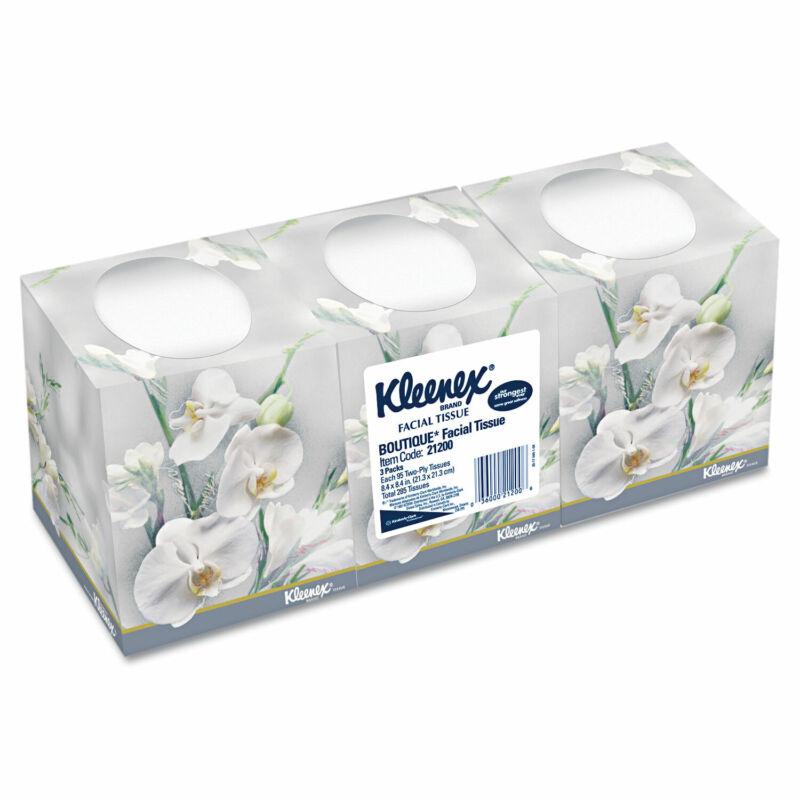 KIMBERLY CLARK Facial Tissue 2-Ply Pop-Up Box 3 Boxes/Pack 12 Packs/Carton