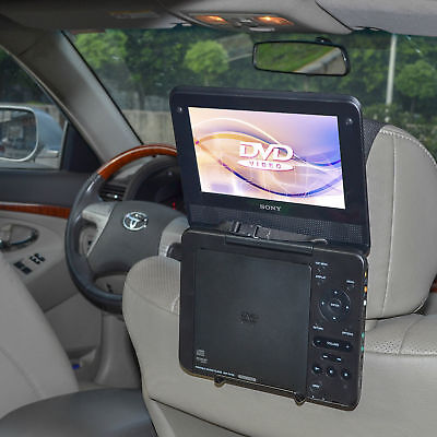 Car Headrest Mount Holder Adjustable for Standard Portable DVD Player 7-10 Inch