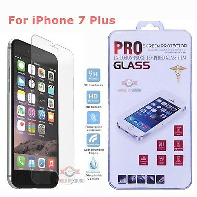 (For iPhone 7 Plus Tempered GLASS Screen Protector Bubble Free HD Protective Film)