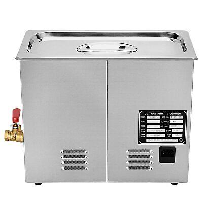 6l Professional Digital Ultrasonic Cleaner Machine Timer Heated Us Basket